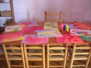 La mesa del aula.