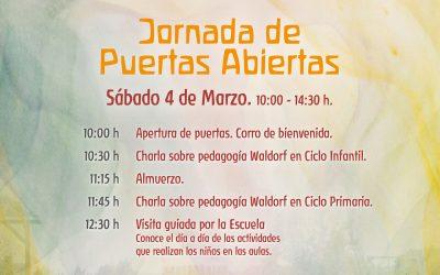 Jornada de Puertas Abiertas · 4 de marzo 10:00h